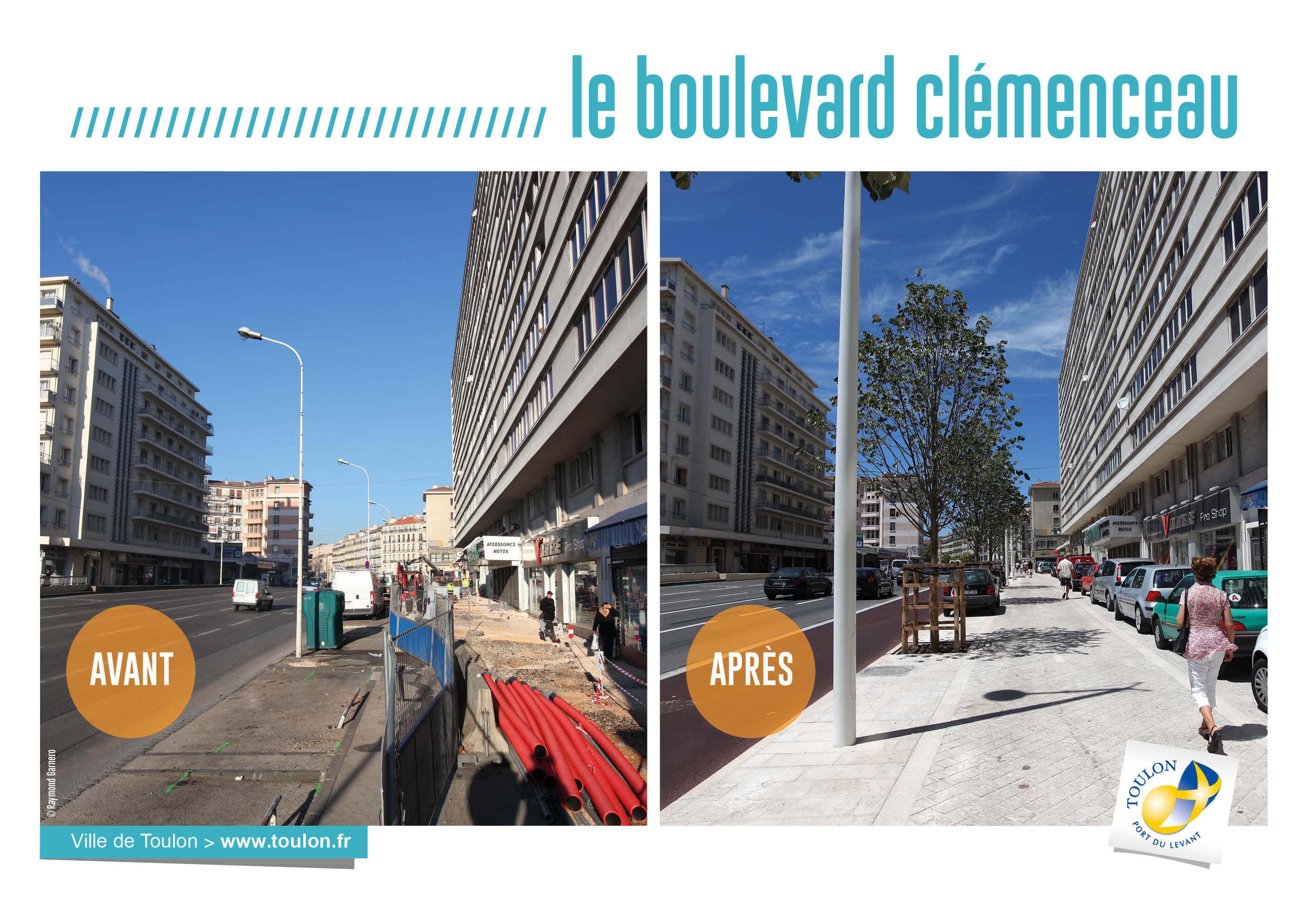 Le boulevard clémenceau