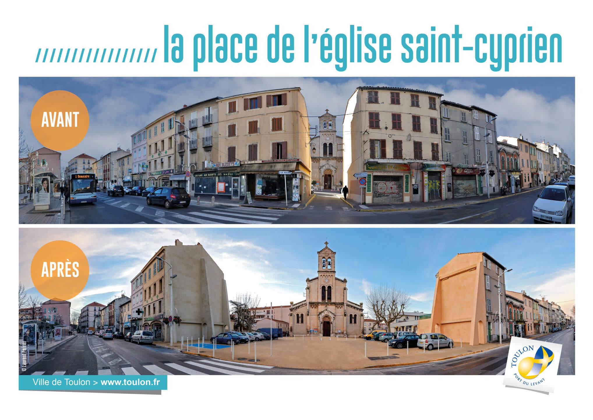 La place de l'église saint-cyprien