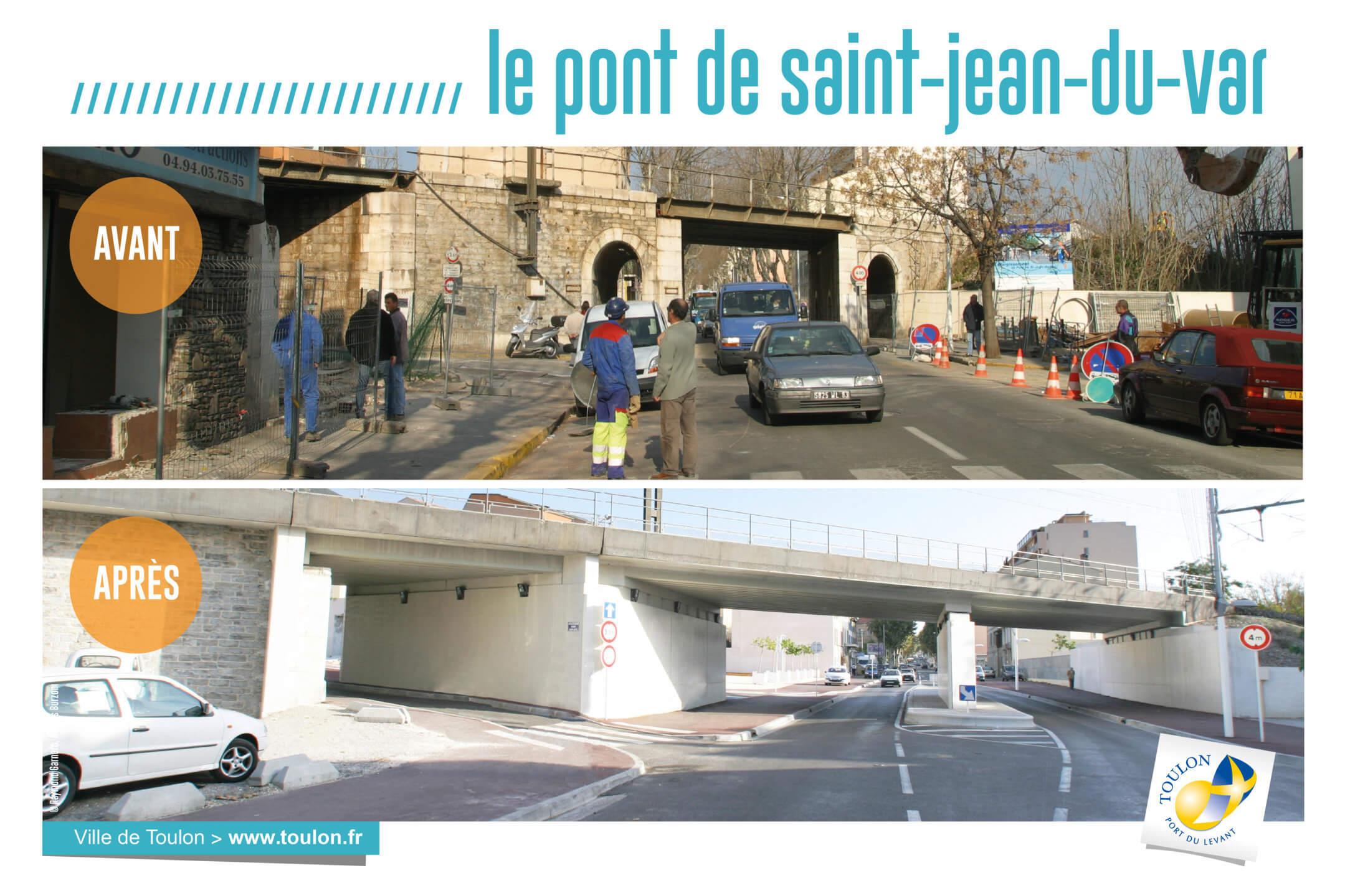 Le pont de saint-jean du var