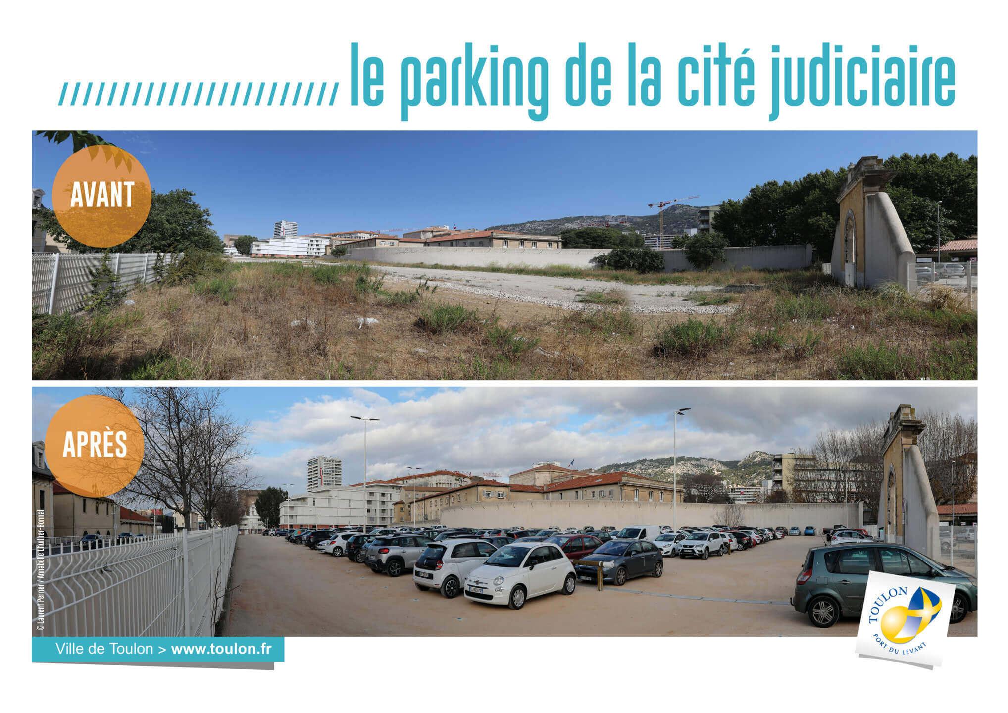 Le parking de la cité judiciaire