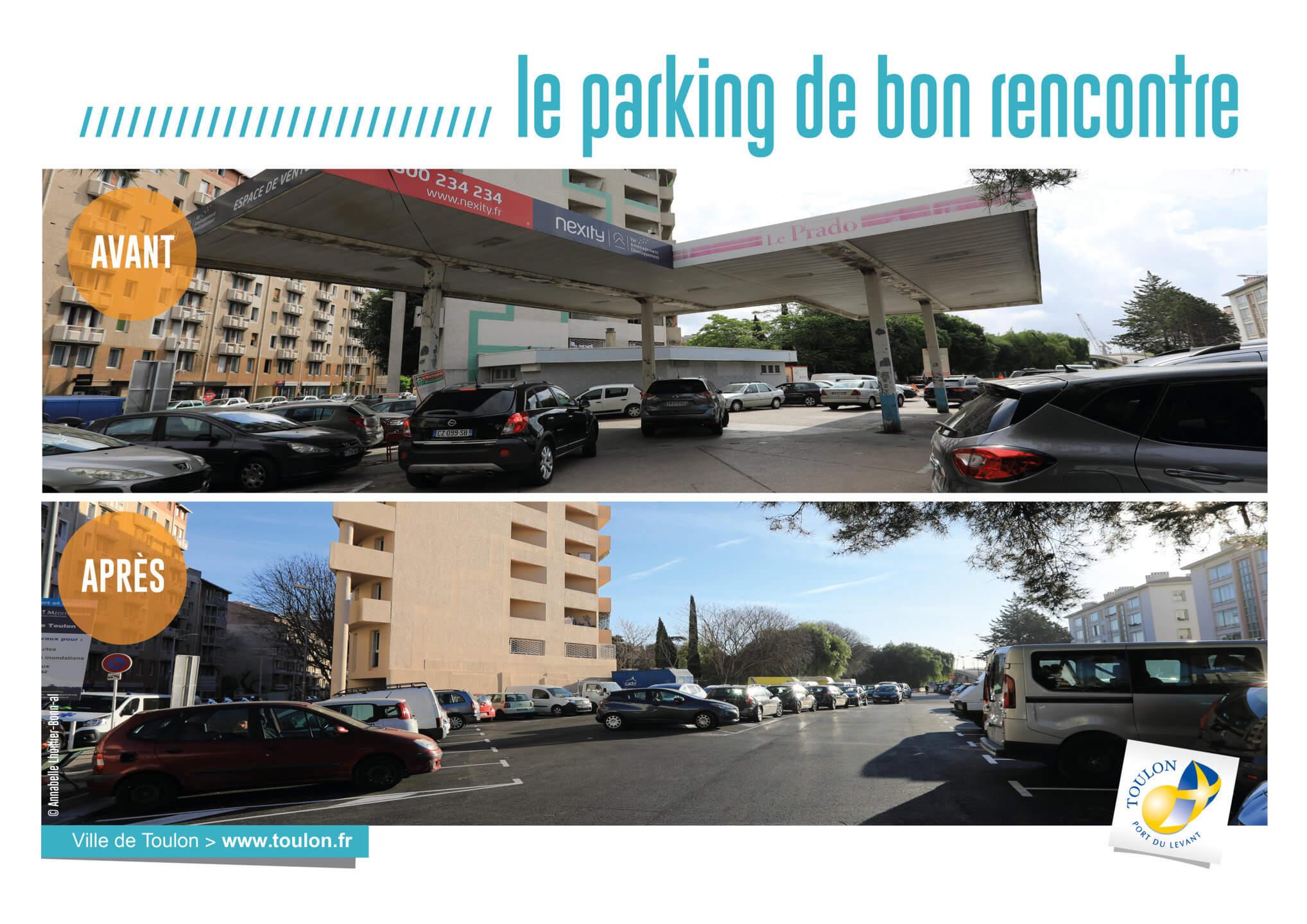 Le parking de bon rencontre