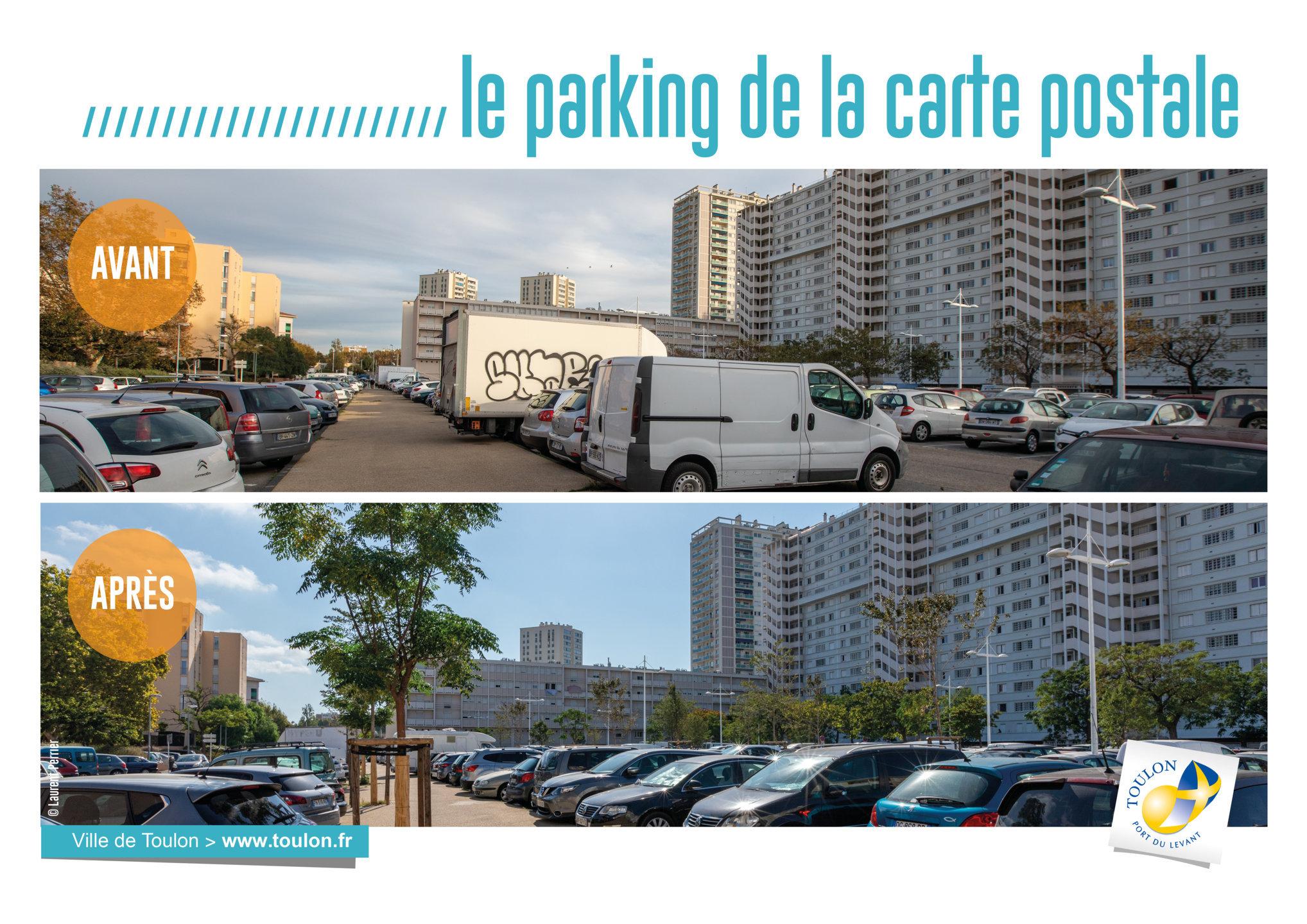 Le parking de la carte postale
