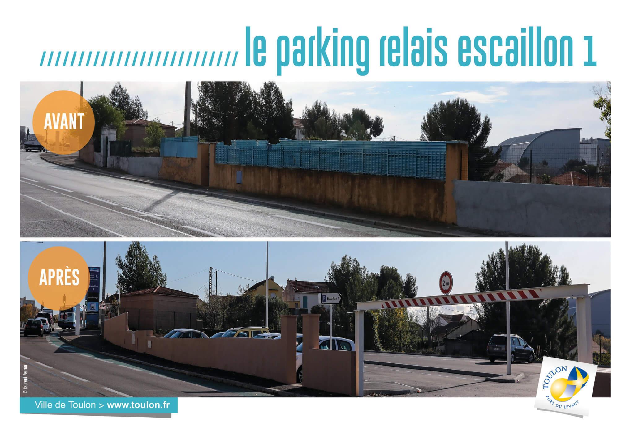 Le parking relais escaillon
