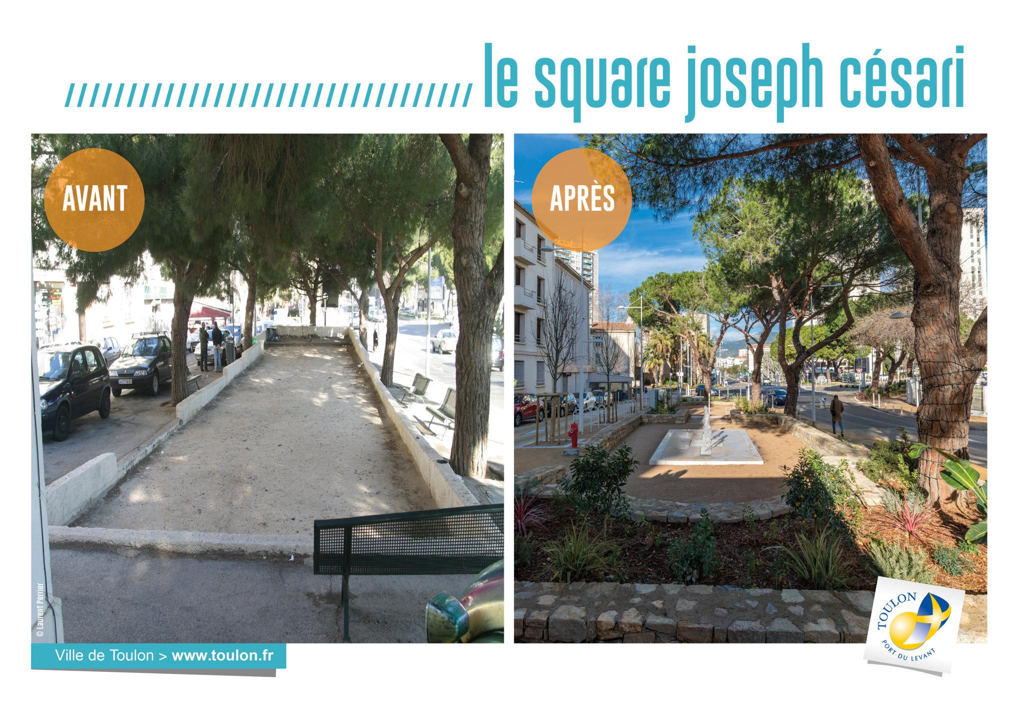 Le square Joseph Césari