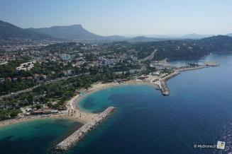 Les plages du Mourillon à Toulon